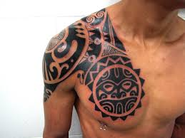 tattoo tribal chest shoulder and chest tattoos shoulder chest tattoos for guys