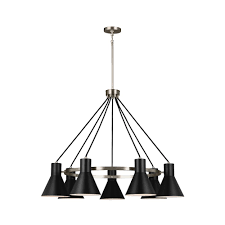 Jeremiah By Craftmade Sea Gull Lighting Towner 7 Light Brushed Nickel Chandelier 3141307