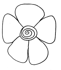 easy flower to draw coloring page