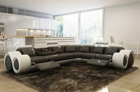 canapé panoramique 7 places canapé d angle en 100 cuir italien 7 places excelia noir et blanc