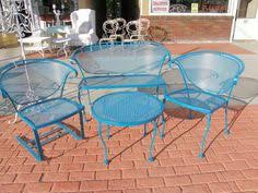 Wrought Iron Patio Furniture by Cross Weave Patio Bistro Set Bright Patio Furniture That Is