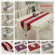 home decor table runner thick chenille modern velvet table runner and table mats