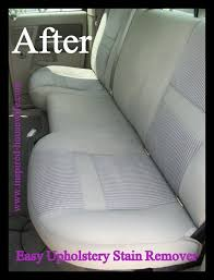 How To Clean Auto Upholstery Stains Easy Car Upholstery Stain Remover Recipe Blue Dishes White