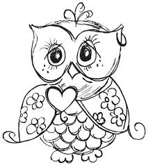 157 Best Coloring Pages Images On Pinterest Free Printable Owl Color Pages