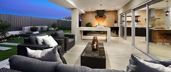 alfresco design seen in the sunset cove display home by