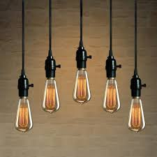 Hanging Light Bulb Pendant Pendant Lights Hanging Light Kit Industrial Pendant L