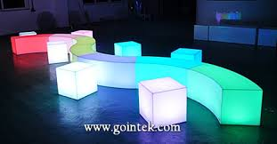 Led Outdoor Furniture - led glowing bench stools