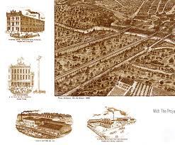 Map Dallas Texas by Dallas Texas In 1892 Bird U0027s Eye View Map Aerial Panorama