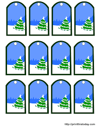 christmas tree and snow gift tags christmas pinterest free