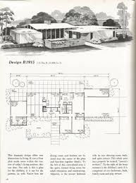 vintage house plans vintage homes mid century homes mcm floor