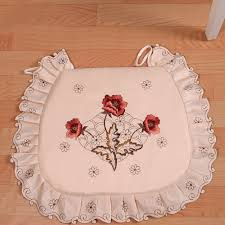 online get cheap padded dining room chairs aliexpress com yazi embroidered peony flower beige fabric dining room chair seat cushion pad home office decor