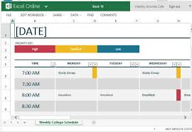 High Level Project Plan Excel Template How To Easily Create Class Schedules Excel