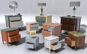 bed and side table set furniture set two bed side table 3d models dreamlandmodels