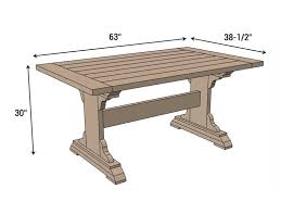 free farmhouse table plans astounding monastery dining table free diy plans rogue engineer at