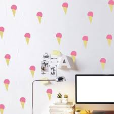 amazon com 36pcs ice cream wall stickers nursery wall decals kids amazon com 36pcs ice cream wall stickers nursery wall decals kids room diy decor art home kitchen