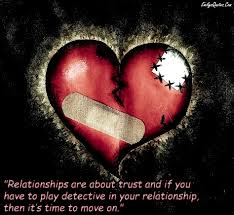 Inspirational Quotes About Love And Relationships by Relationships Are About Trust And If You Have To Play Detective In