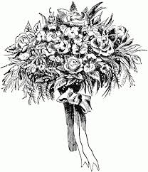 wedding flowers drawing bouquet of flowers drawing black and white style by