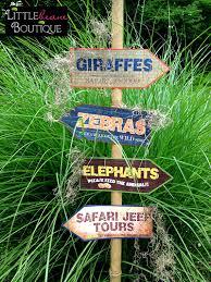 printable safari jungle signs diy african safari party signs
