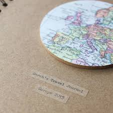 Map Globe Personalised Vintage Map Globe Travel Journal By Posh Totty