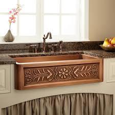 Copper Kitchen Sink Reviews by Apron Kitchen Sinks Copper Artist Design Hand Hammered Finish