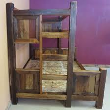 Barn Wood Bunk Bed  Barn Wood Furniture Rustic Barnwood And Log - Rustic wood bunk beds