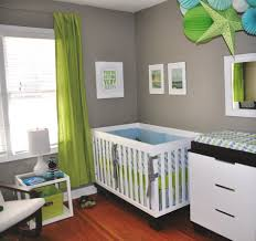 Sweet Home Interior Design Baby Nursery Decor Green Curtain Baby Boy Nursery Colors White