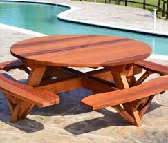 table gratifying round picnic table woodworking plans famous