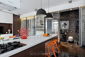 kitchen captivating interior design with geometric barstool also