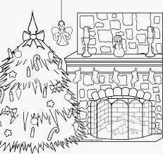 s christmas fireplace coloring page u happy holidays vector of a