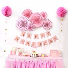 birthday decorations aliexpress buy sunbeauty a set pink theme happy birthday