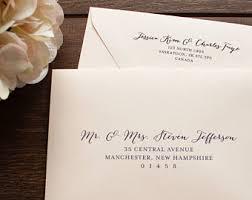 wedding invitation envelopes envelope printing etsy