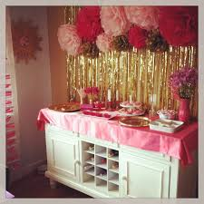 pink white gold decorations ideas