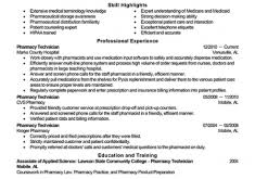 Examples Of Pharmacy Technician Resumes Astounding Ideas Pharmacy Technician Resume 3 Best Pharmacy
