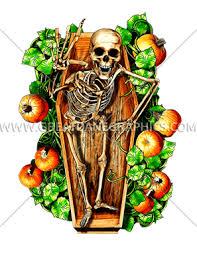 halloween casket pumpkin patch production ready artwork for t