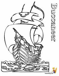 draw pirate ship coloring page 11 in coloring pages online with