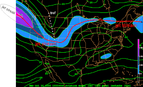 Jet Stream Map Frontal Disturbances