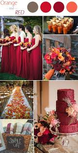 october wedding ideas 6 practical wedding color combos for fall 2015 leaves weddings