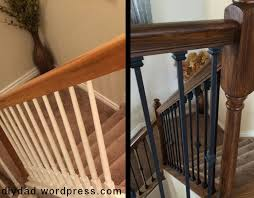 Stripping Paint From Wood Banisters Replacing Wood Balusters With Wrought Iron Sort Of Diy Dad