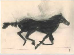 animated charcoal sketches of muybridge horses in motion youtube