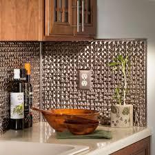aluminum backsplash kitchen kitchen fasade 0 5 in x 18 pvc decorative wall tile j trim brushed
