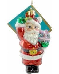 winter bargains on christopher radko st nick salute blown glass