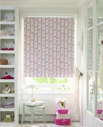 White Bedroom Blinds - sweet roman blinds bedroom with pink complexion fabric curtain and