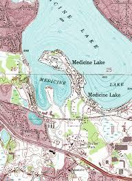 minnesota topographic map guide to medicine lake minnesota