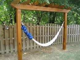 relax in your yard even without trees diy hammock stand how to
