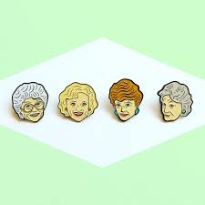 the golden girls enamel pin pack by yousillyduffer on etsy https