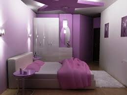 purple wall paint in bedroom decorations with wall light also
