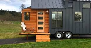 high end tiny house with folding deck sia magazine
