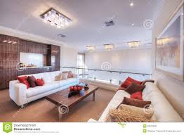 White Modern Living Room Modern Living Room With White Sofa Royalty Free Stock Image