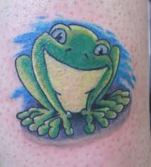3d awesome frog tattoo design by green ink tattoobite com