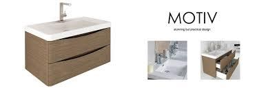 900mm Bathroom Vanity by Motiv 900 Wall Mounted Vanity Unit Grey Elm